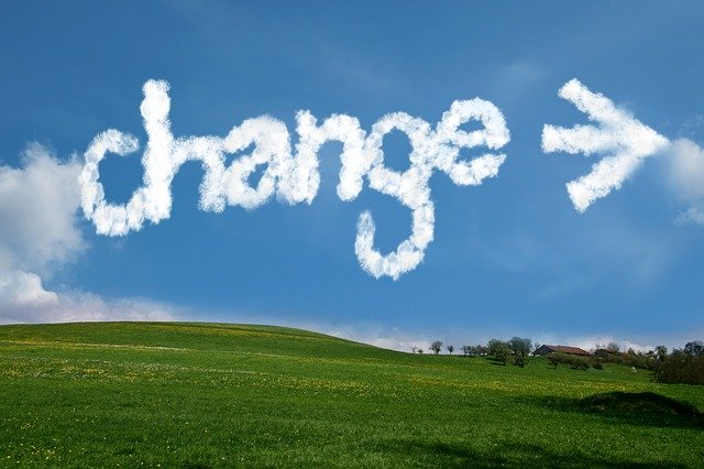 Change written in the sky